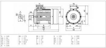 výkres elektromotor MS100