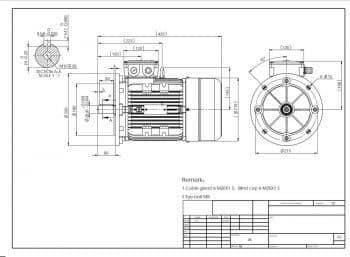 výkres elektromotor MS112 prevedenie B5