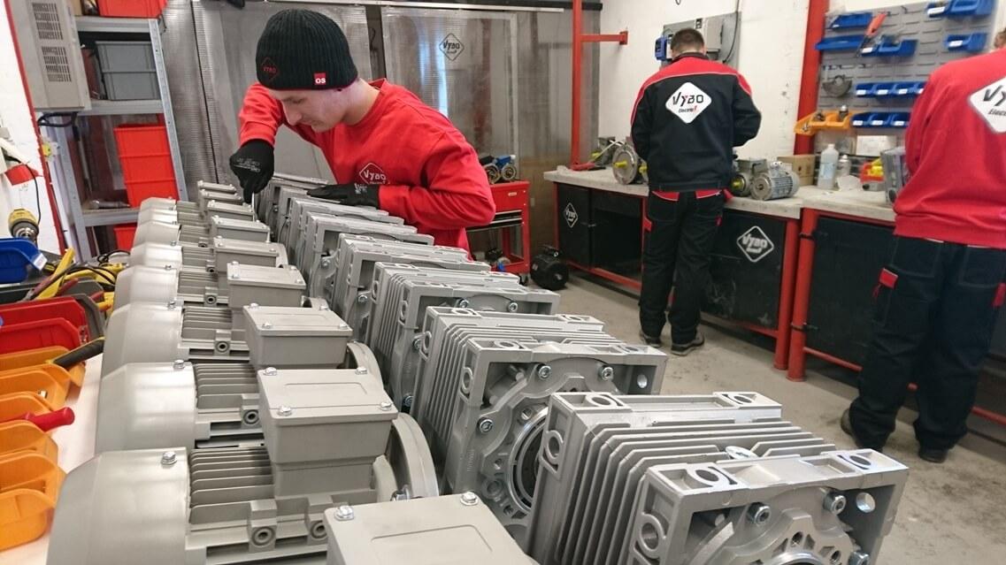 pohľad z vnutra pri praci VYBO Electric 4