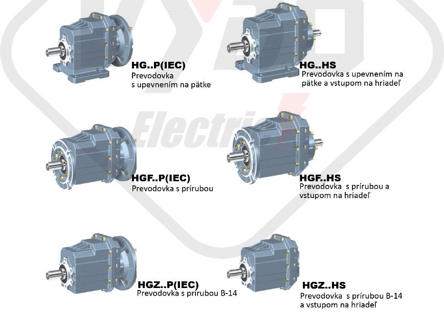 modely čelná prevodovka hg03