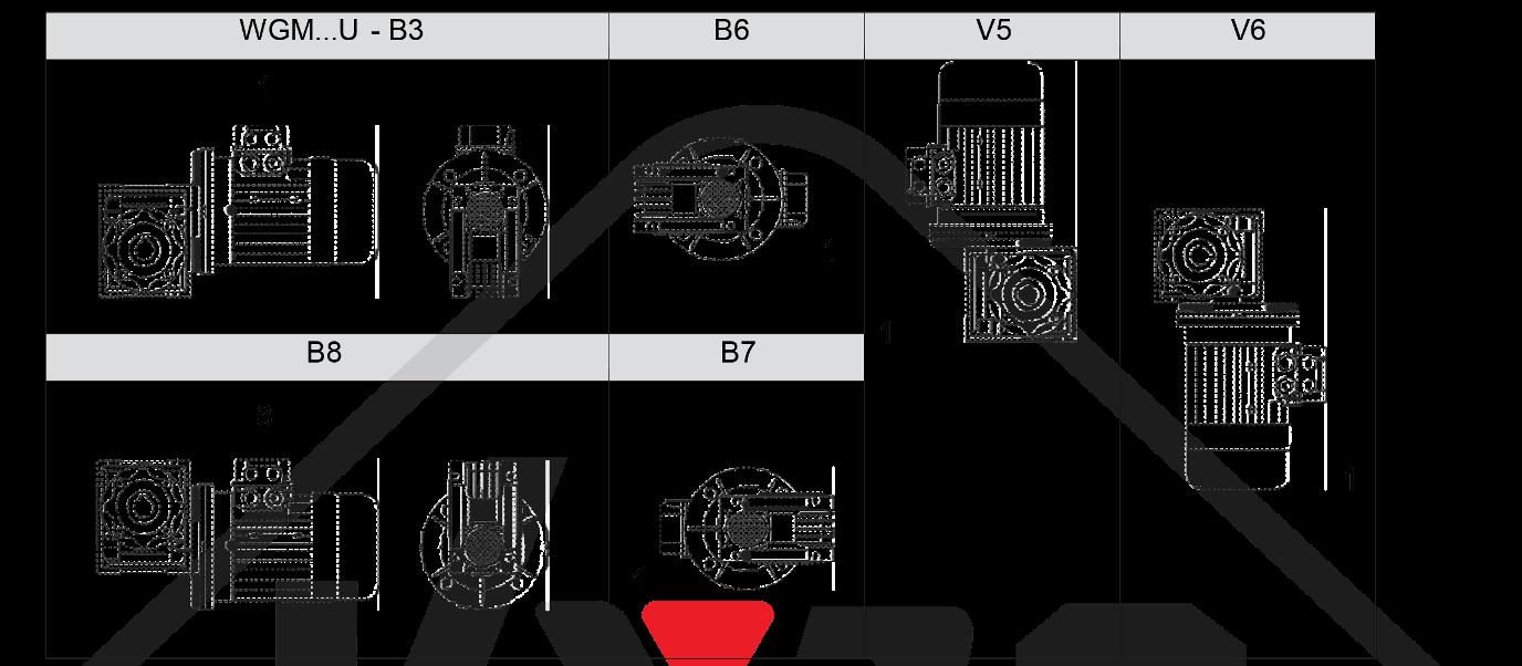 montážna poloha prevodovka wgm025