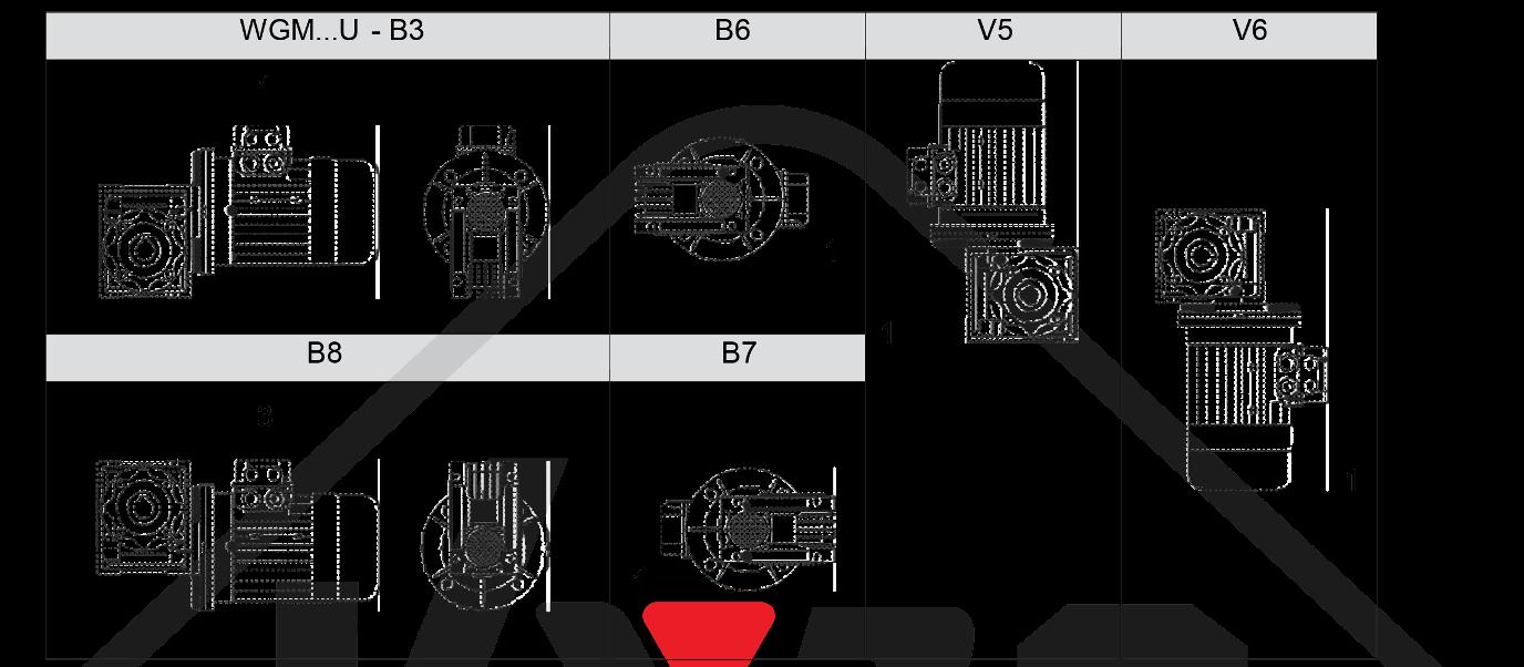 montážna poloha prevodovka wgm030