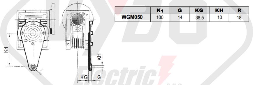 torzné rameno prevodovky wgm050