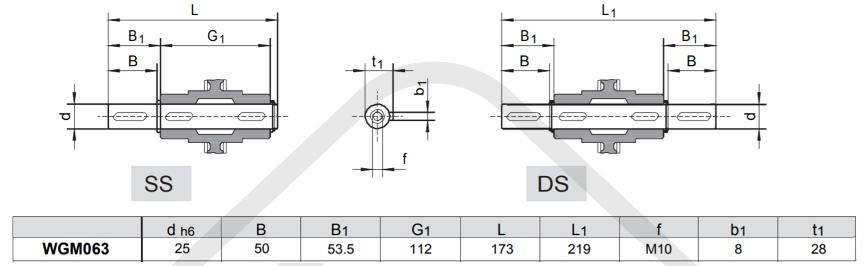 výstupné hriadele prevodovka wgm063