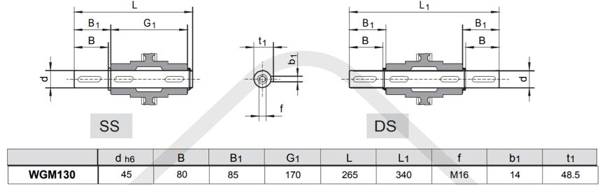 výstupné hriadele prevodovka wgm130